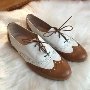 Mercanti Fiorentini Brown and white Oxford Loafers